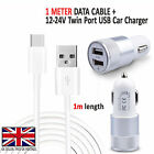 LG V30 (H930) - In Car Fast Dual Charger PLUS Type C 3.1 Charging Cable