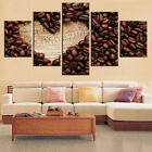Love Coffee Bean Paintings Poster Abstract Modern Canvas Wall Art Home Decor