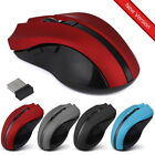 Cordless Wireless 2.4GHz Optical Mouse Mice for Laptop PC Computer USB Receiver