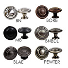 Round Grooved Cabinet Hardware Knob Collection - in six color options
