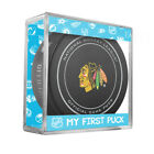 MY FIRST PUCK for NEWBORN BABY BOY Chicago Balckhawks Licensed NHL Game Puck