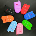 SKIN SILICONE COVER SMART REMOTE KEY CASE 5 BTN FOB FOR JEEP FIAT DODGE CHRYSLER $2.19 USD on eBay