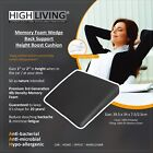 Highliving®Memory Foam Wedge Support Cushion Car Office Back Pain  Height Boost
