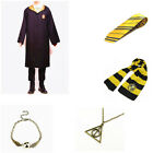Harry Potter Adult Child Gryffindor Robe Cloak Costume Cape Tie Scarf Cosplay