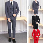 New Men Regular Two Button Suits 3 Pieces Formal Suits Business Wedding Suits