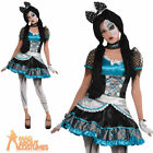 Shattered Doll Costume Girls Broken Evil Dolly Halloween Fancy Dress Teen Outfit