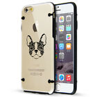 For Apple iPhone SE 5s 6 6s 7 8 Plus Clear TPU Hard Case French Bulldog Floral