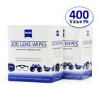 Zeiss Lens Cleaning Wipes 400CT Eyeglasses Camera Phone Optical lens Cleaner USA