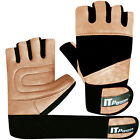 Leather Weight Lifting Gloves Gym Fitness Body Building Training Long Straps