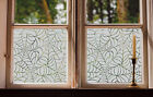 Etched Glass Window Film FROSTED SPIDERS WEB shop home bathroom contempory