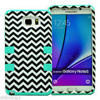 Shockproof Rugged Hybrid Rubber Phone Cover Case Samsung Galaxy Note 5 Chevron
