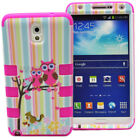 Cute Owls Rugged Impact Hard Rubber Case Cover For Samsung Galaxy Note 3 N9000