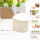 100pcs Paper Wedding Party Card Label Blank Luggage Tags Gift Heart/Rectangle#D#