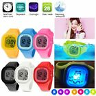 Boys Girls student Waterproof Watch LED Digital Sport Silicone Square Wristwatch