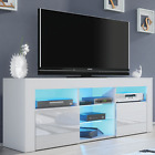 Modern TV Unit Cabinet Stand - Matt body and High Gloss Doors FREE LED light!