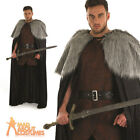 Adult Medieval Cape Mens Game of Thrones Viking Warrior Cloak Fancy Dress Outfit