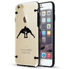 For Apple iPhone SE 5s 6 6s 7 8 Plus Slim Clear TPU Hard Case Wrestle Wrestling