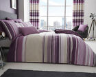 Ashcroft Stripe Design Mauve Bedding Duvet Cover Set Single Double King