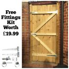 MADE TO MEASURE WOODEN GARDEN GATE / GATES  FEATHEREDGE TANALISED 1.8M HIGH