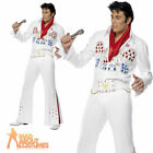 Elvis Presley American Eagle Costume 50s Fancy Dress Adult Mens Outfit