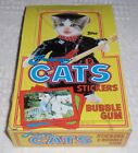 1983 Topps Perlorian Cats Stickers EMPTY display box Vintage collectible Fun