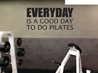 Pilates Quotes Gym Fitness Art Home Wall Decal Decoration Mural Sticker Vinyl