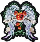 """9.5"""" Fallen Angel Wings Embroidered Patch Iron on Polo T shirt Jacket Costume"""