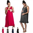 Zeta Ville - Women's maternity nursing nightdress breastfeeding nightie - 989c