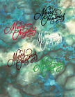 """Impression Obsession """"Merry Christmas"""" Die Cut Embellishments, 6 Different Sets"""