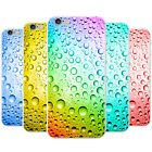 Coloured Water Droplets Snap-on Hard Back Case Phone Cover for Apple Phones