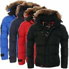 Geographical Norway Herren Winterjacke Steppjacke Parka Warme Jacke Outdoor