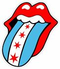 Rolling Stones Chicago Flag Fan Sticker Decal Vinyl Window Bumper Logo
