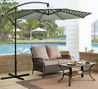 10' Patio Hanging Umbrella Garden Umbrella Offset Market Umbrella Cross Base