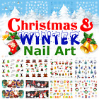 Snowflake Nail Decals Water Decals Stickers Christmas Winter Snowflakes Snowmen