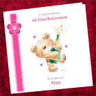 Personalised Handmade Retirement Card NT001 / Congratulations Well Done Pink