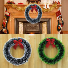 wreath xmas - New Arrival Xmas Wreath Door Home Wall Ornament Garland Party Decor Red Bowknot