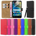 Wallet Flip Book Leather Card Case Cover Pouch For Various Mobile Phones