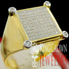 Mens Round Cut Yellow Gold Silver Wedding Engagement Ring Band Diamond 1.50 Ct