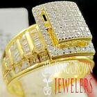 10K Yellow Gold On Silver Ladies Bridal Ring Wedding Engagement Diamond Band