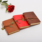 Vintage Key Bookmark Journal Diary Classic Retro Faux Leather Cover Notebook