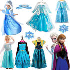 Movie Frozen Fancy Dress Costume Princess Halloween Cosplay Crown Gloves Wig Lot