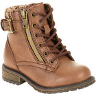 Faded Glory Girls Brown Lace Up Boots Size 3, 4