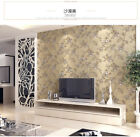 Pastoral Style Embossed Environmental Friendly 3D Non-woven BedroomWallpaper5.3㎡