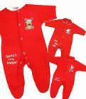BabyPrem Baby Christmas Clothes My First Christmas Terry Sleepsuit Newborn - 6 m