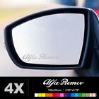 ALFA ROMEO Wing Mirror Glass Silver Frosted Etched Car Vinyl Decal Stickers