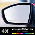 AUDI QUATTRO Wing Mirror Glass Silver Frosted Etched Car Vinyl Decal Stickers