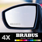 BRABUS Wing Mirror Glass Silver Frosted Etched Car Vinyl Decal Stickers