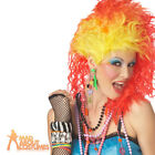 80s True Colours Wig Red & Yellow Cyndi Lauper Party Girl Womens Fancy Dress