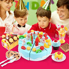 Triple-Layer Cake Plastic Play Food Set Kids Pretend Game Party Toodler Kids Toy