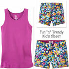 NWT RUUM American Kids Wear Girls Size 5 or 6 Floral Shorts Tank Top 2-PC OUTFIT